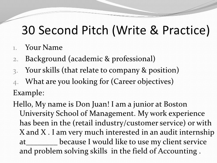 pretty 30 second pitch template photos write your elevator pitch