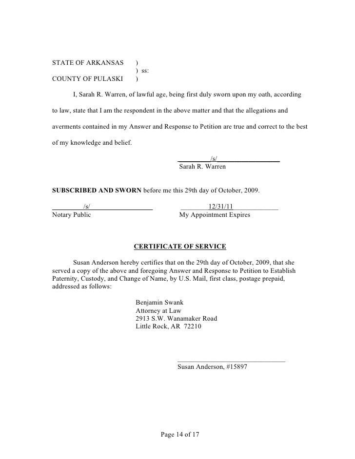 Fall 2009 Open Memo Pleadings Arkansas Law Ai Sperm Donor Parental Ri