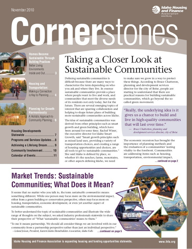 November 2010                 Homes Become                 Sustainable Through                 Building Practices         ...