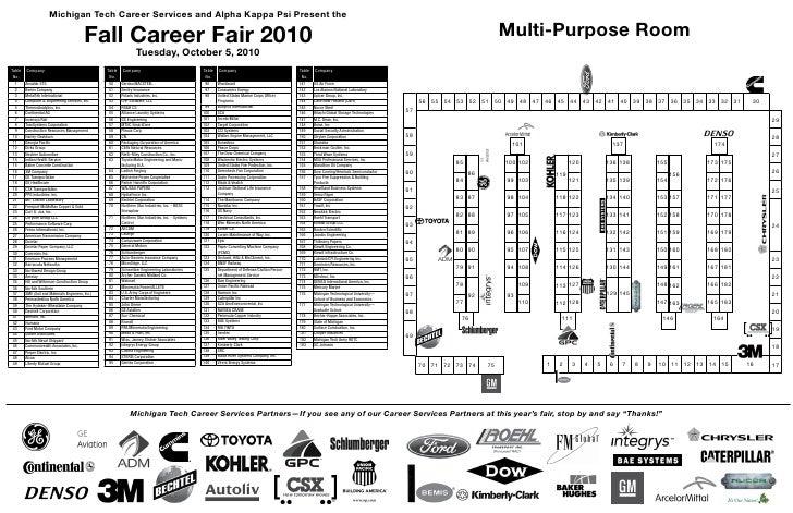Michigan Tech Career Services and Alpha Kappa Psi Present the                                             Fall Career Fair...