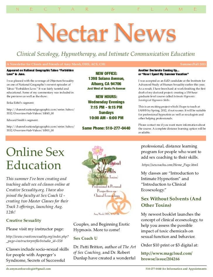 Nectar News, Summer-Fall 2011