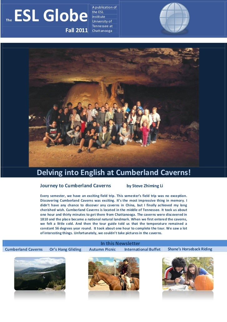 A publication ofThe   ESL Globe                                 the ESL                                                ins...