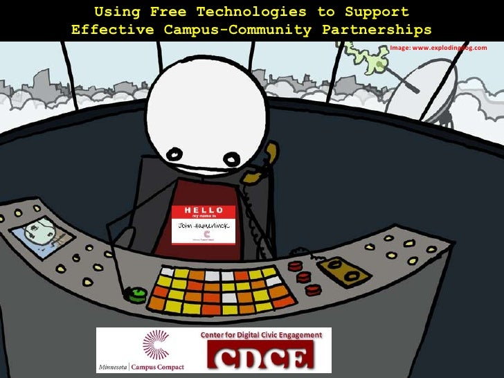 Using Free Technologies to Support Effective Campus-Community Partnerships<br />Image: www.explodingdog.com<br />