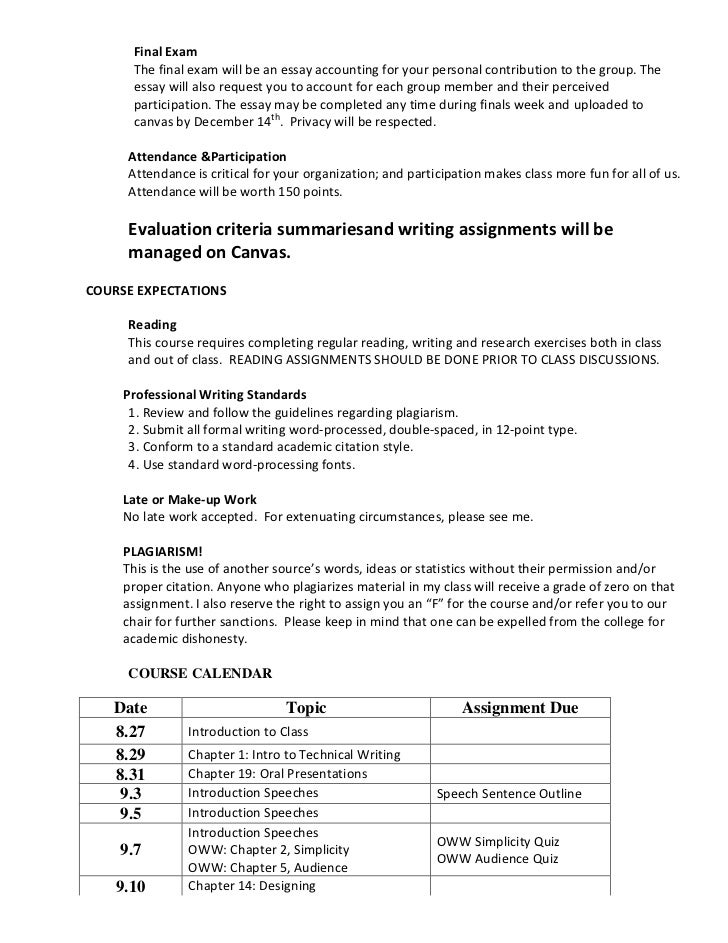 technical writing syllabus English 206-201 (online): technical writing syllabus subject to change instructor avery edenfield required text lannon, john m, laura j gurak.