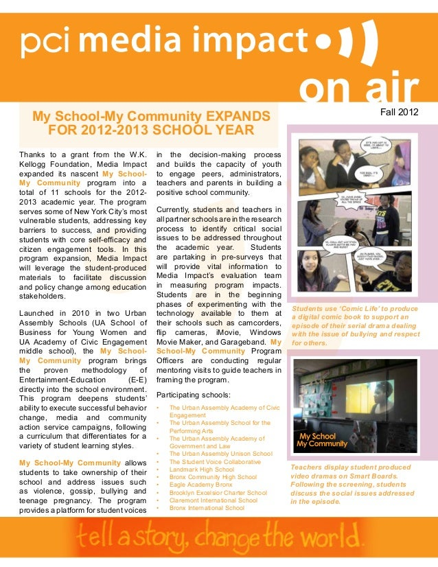 My School-My Community EXPANDS                                                                                      on air...