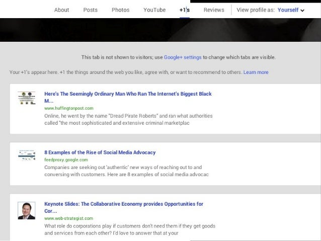 """More Than A """"Like""""  Public Inside & Outside of G+  Used in Shared Endorsements Bookmarking"""