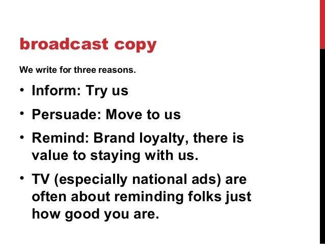 writing ad copy for radio