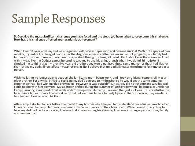 college essay examples about challenges