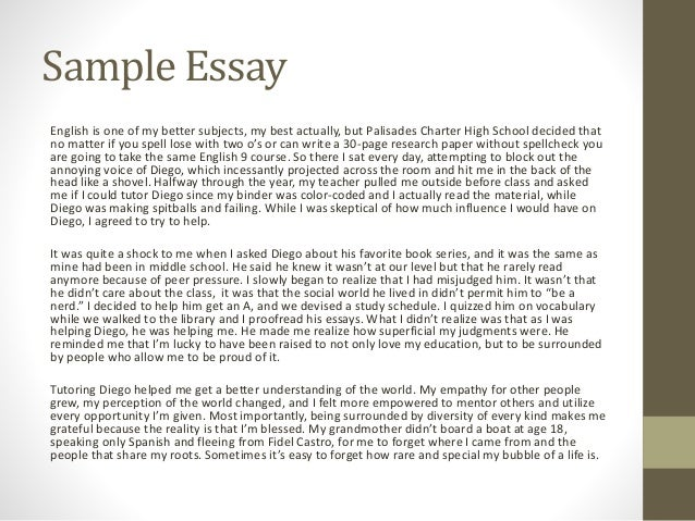 fall  essay workshop sample essay english