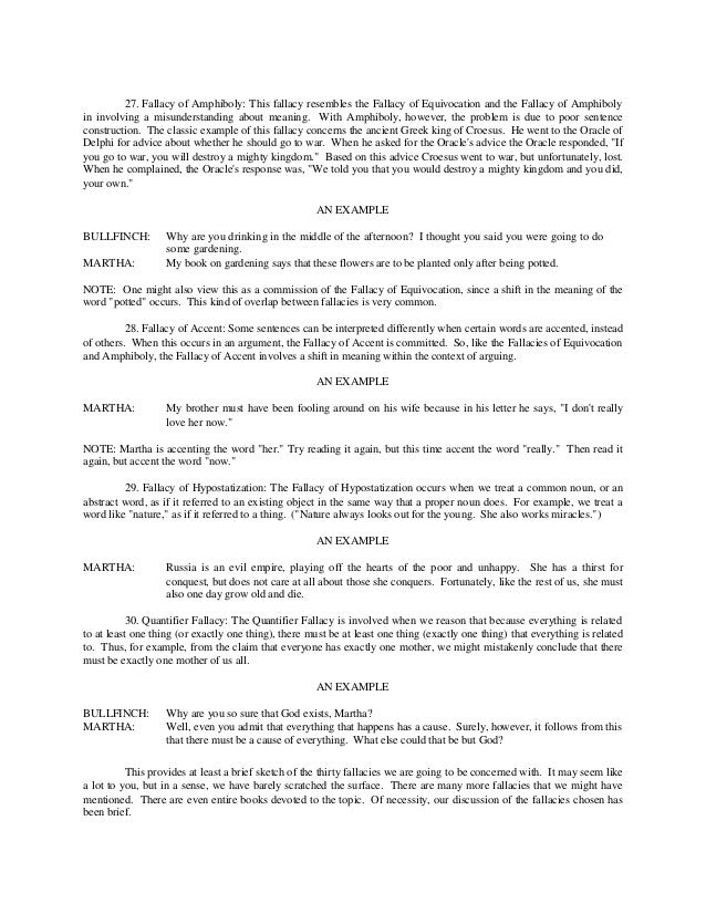 Fallacies – Fallacies Worksheet