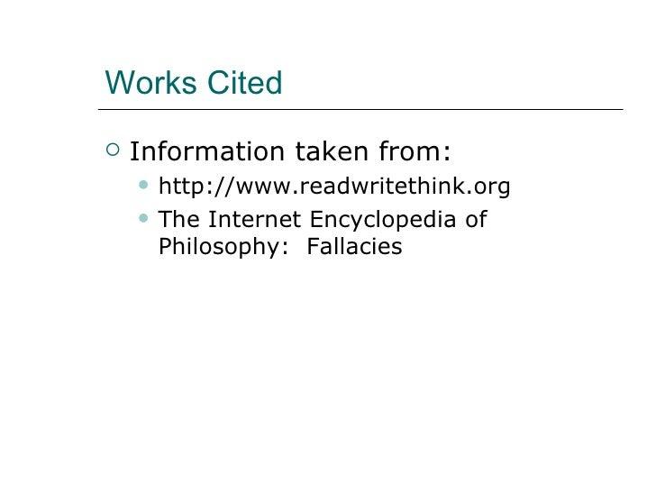fallacies internet encyclopedia of philosophy fallacy