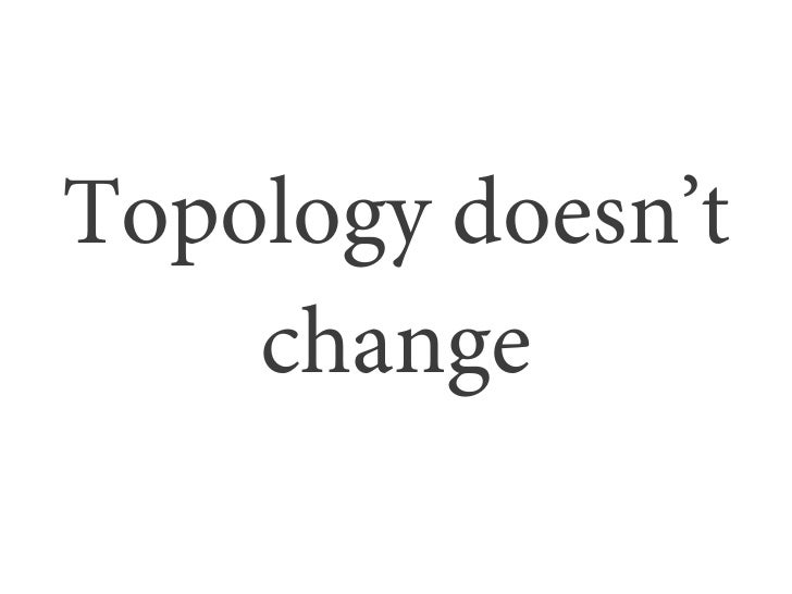 Topology doesn't    change