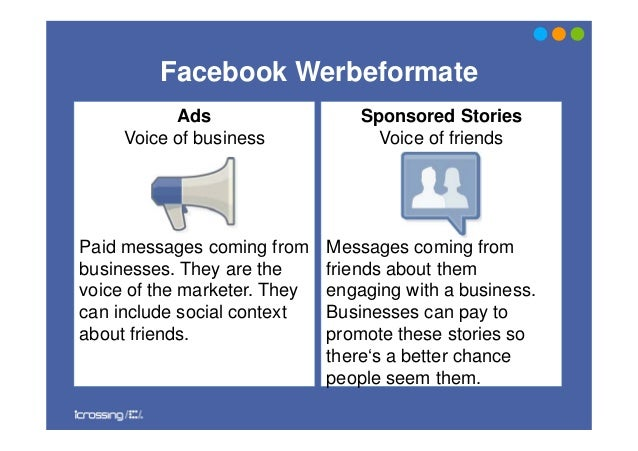 AdsVoice of businessPaid messages coming frombusinesses. They are thevoice of the marketer. Theycan include social context...
