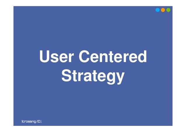 User CenteredStrategy