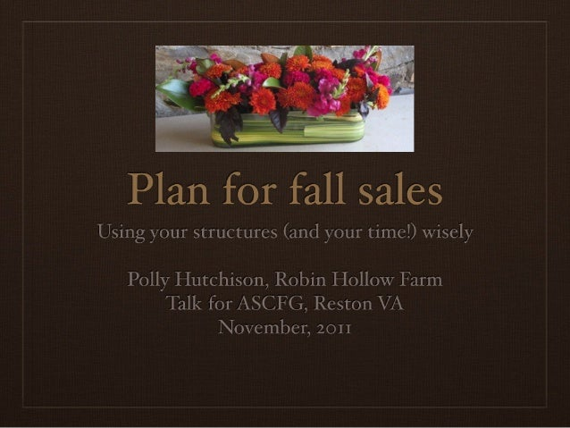 Fall season extension for flower growers