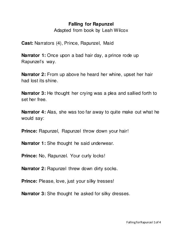 Falling for Rapunzel Reader's Theater Script