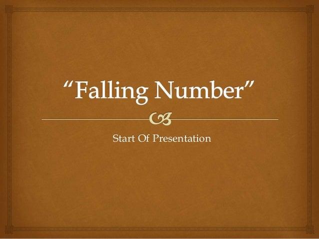 Start Of Presentation