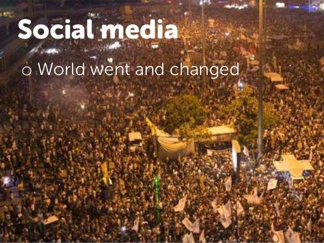 Social is dead • The big data crunch • Snapchat • Money