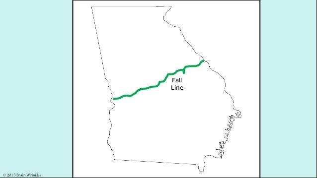 Georgias Fall Line And Rivers - Georgia map fall line