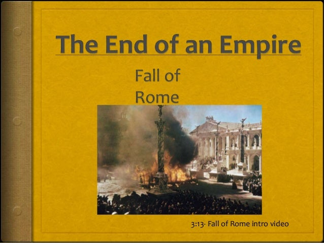 rome downfall essays