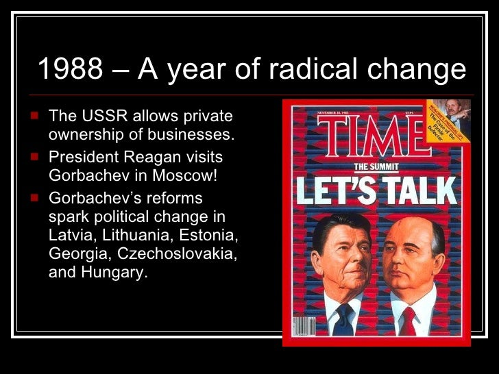 the end of the cold war Ronald reagan 1982: 'new cold war', increased military spending by 13% and the sdi program, pushed the soviet economy to breaking point 'reagan victory school' historians- critical of the.