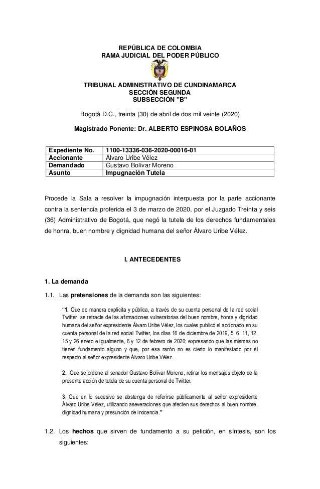 """REPÚBLICA DE COLOMBIA RAMA JUDICIAL DEL PODER PÚBLICO TRIBUNAL ADMINISTRATIVO DE CUNDINAMARCA SECCIÓN SEGUNDA SUBSECCIÓN """"..."""