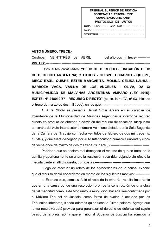 TRIBUNAL SUPERIOR DE JUSTICIASECRETARÍA ELECTORAL Y DECOMPETENCIA ORIGINARIAPROTOCOLO DE AUTOSTOMO …..UNO.......…… AÑO 201...