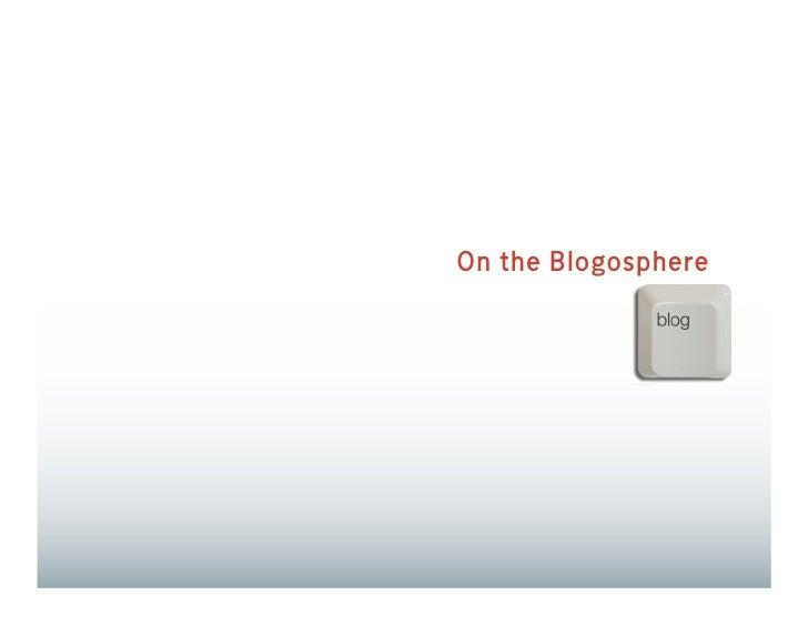 On the Blogosphere