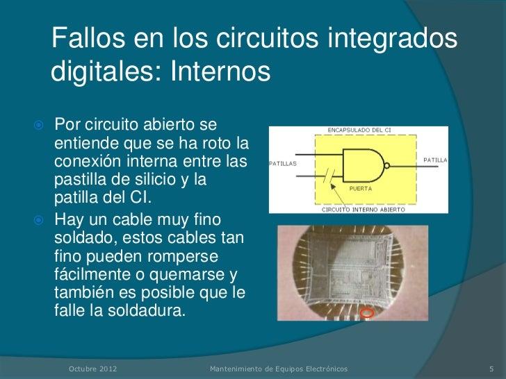 Fallos en los circuitos integrados digitales for Que es soldadura