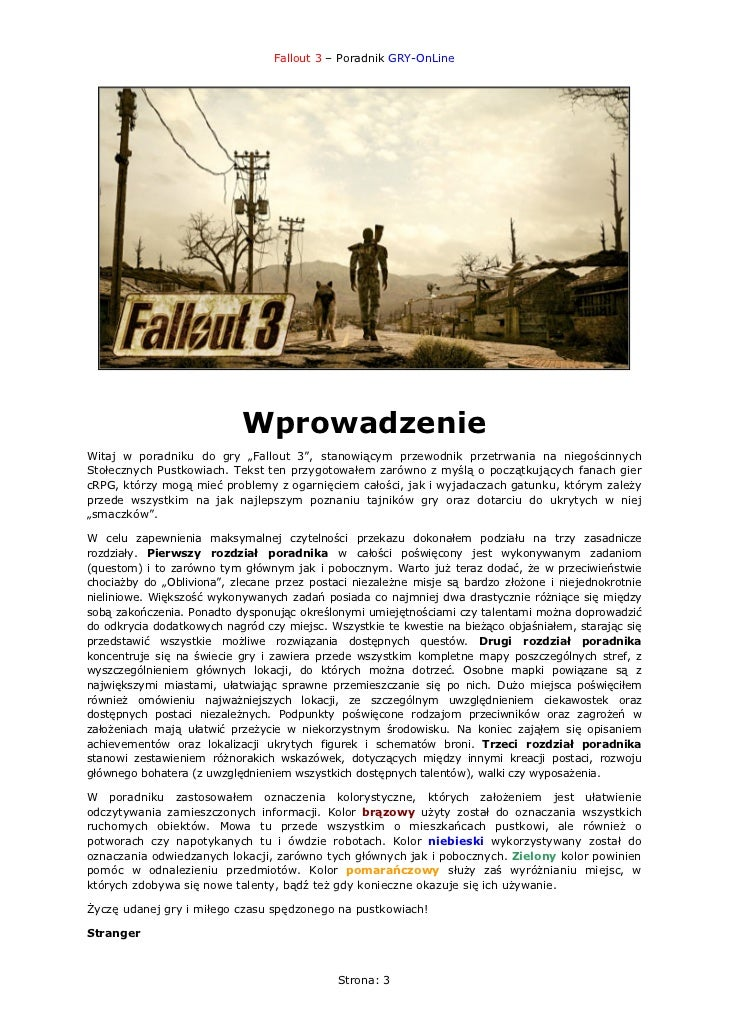 Fallout 3 Poradnik Slide 3