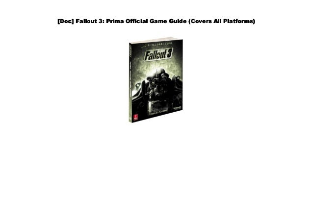 Pdf Fallout 3 Prima Official Game Guide Covers All Platforms