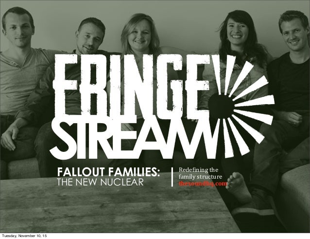 FALLOUT FAMILIES: THE NEW NUCLEAR Rede$ining  the family  structure   thesoundhq.com Tuesday, November 10, 15