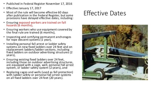 Fall Protection OSHA NEW General Industry 2017 standard Slide 2