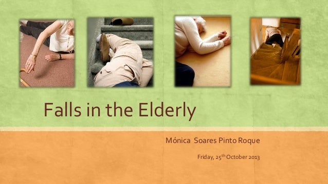 Falls in the Elderly Mónica Soares Pinto Roque Friday, 25th October 2013