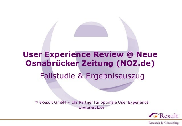 © eResult GmbH – Ihr Partner für optimale User Experience www.eresult.de © eResult GmbH – Ihr Partner für optimale User Ex...