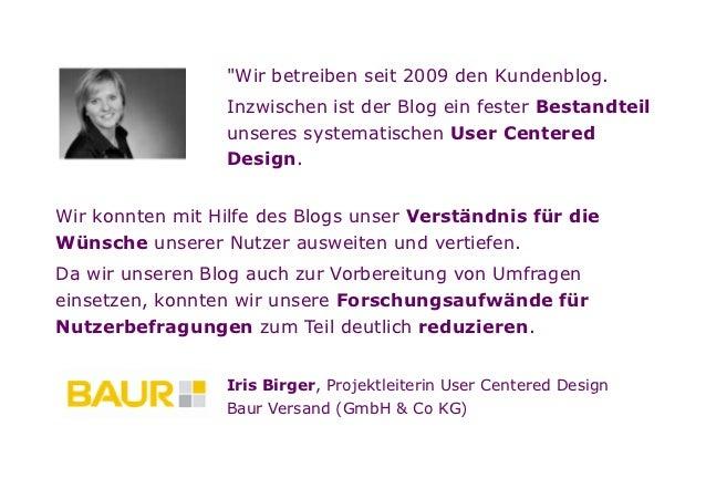 vorteile von kundenblogs anhand der fallstudie baur kundenblog. Black Bedroom Furniture Sets. Home Design Ideas