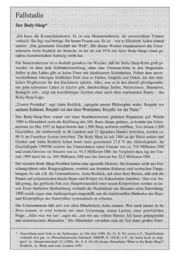 Quelle: Steinmann, Horst; Schreyögg, Georg (2000): Management. Grundlagen  der Unternehmensführung, 5. Auflage, Wiesbaden ...