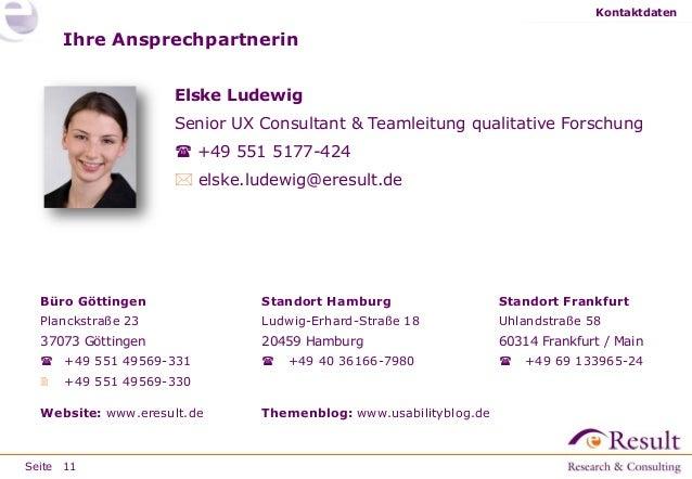 Fallstudien/Projektbeispiele Zielgruppen kennenlernen eResult GmbH