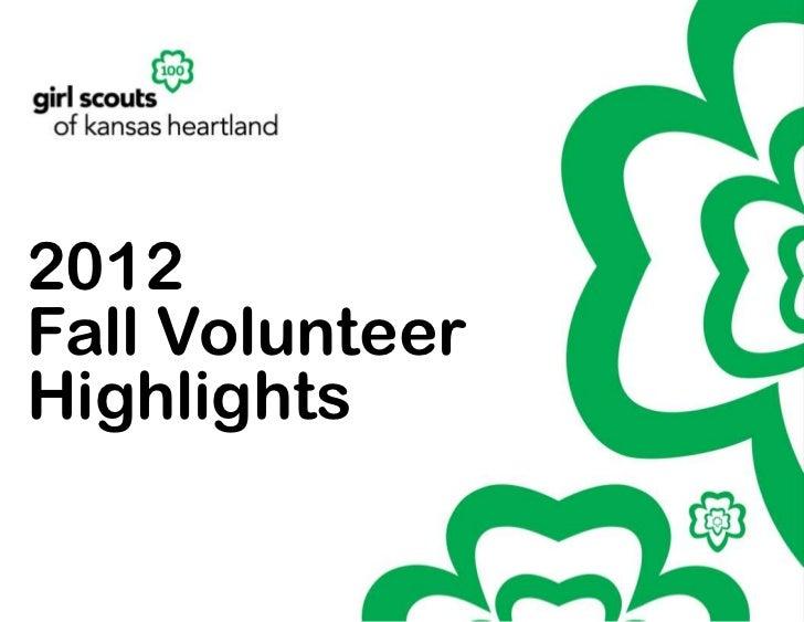 2012Fall VolunteerHighlights