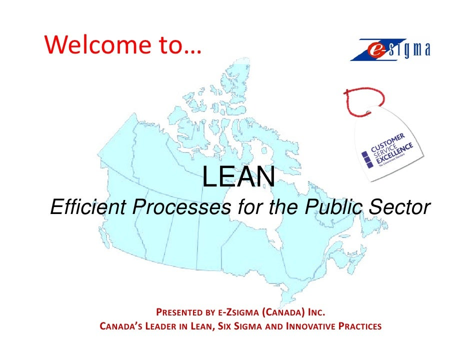 Lean For The Public Sector