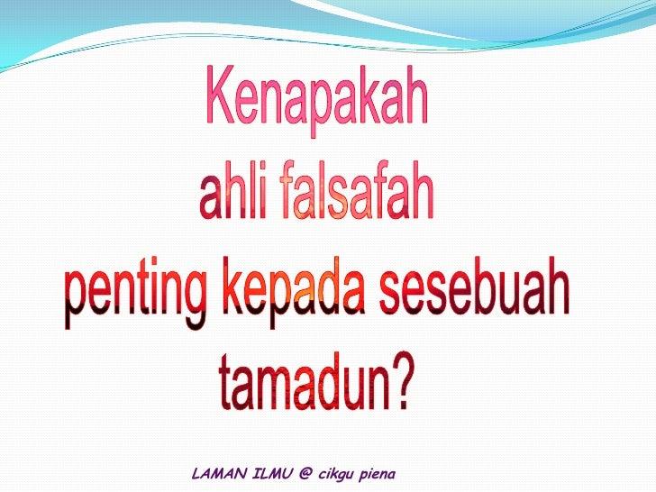 Falsafah Slide 2