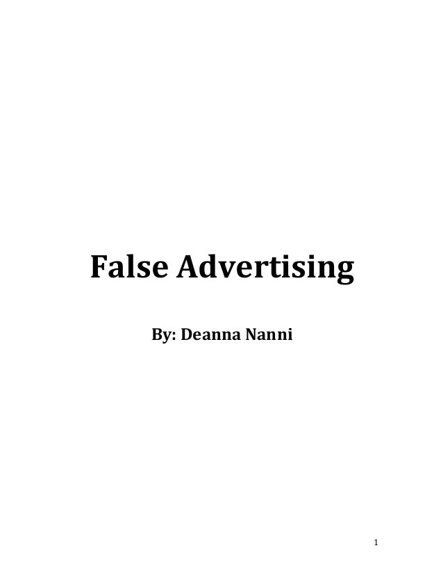 false advertising research paper 1 false advertising