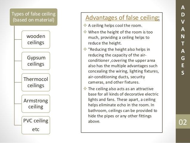 False ceiling types ppt for False ceiling types
