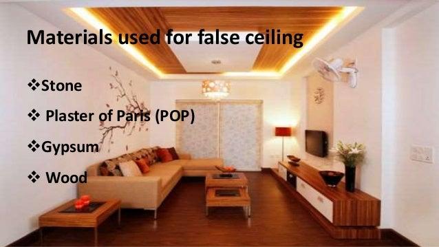 False ceiling a modern interior decor