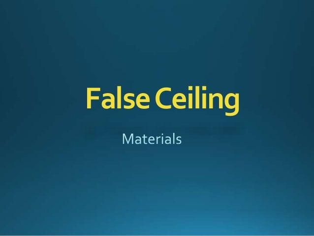 FalseCeiling