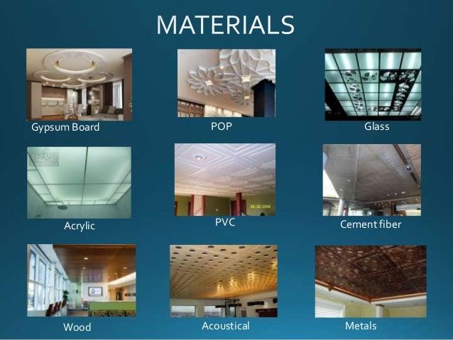 False Ceiling Materials