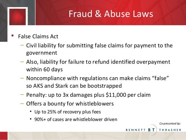 False Claims Act for Labor and Employment and Health Care ...