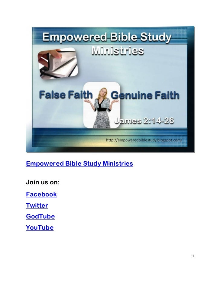 Empowered Bible Study MinistriesJoin us on:FacebookTwitterGodTubeYouTube                                   1