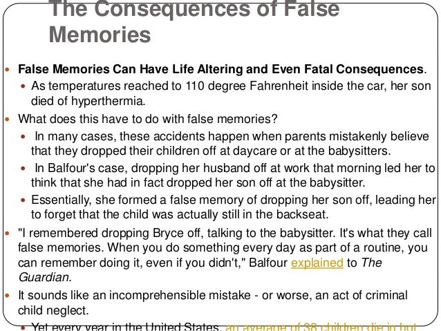 false memories the origins of false Take this test and experience how false memories are made vocativ  brain games- false memory and misinformation effect  history help about .