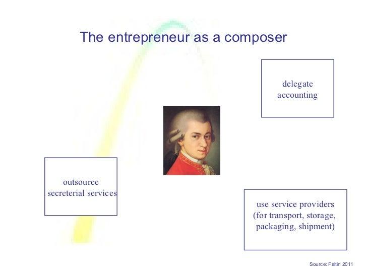The entrepreneur as a composer                                          delegate                                         a...